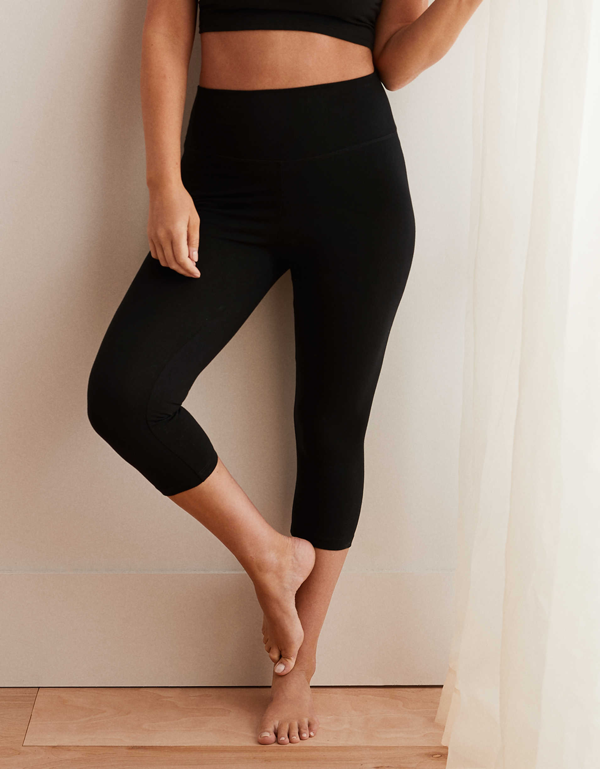 Aerie Chill High Waisted Crop Pant
