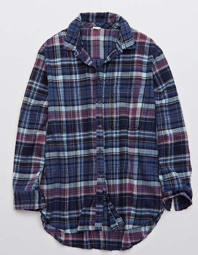 Aerie Flannel Long Sleeve Boyfriend Shirt