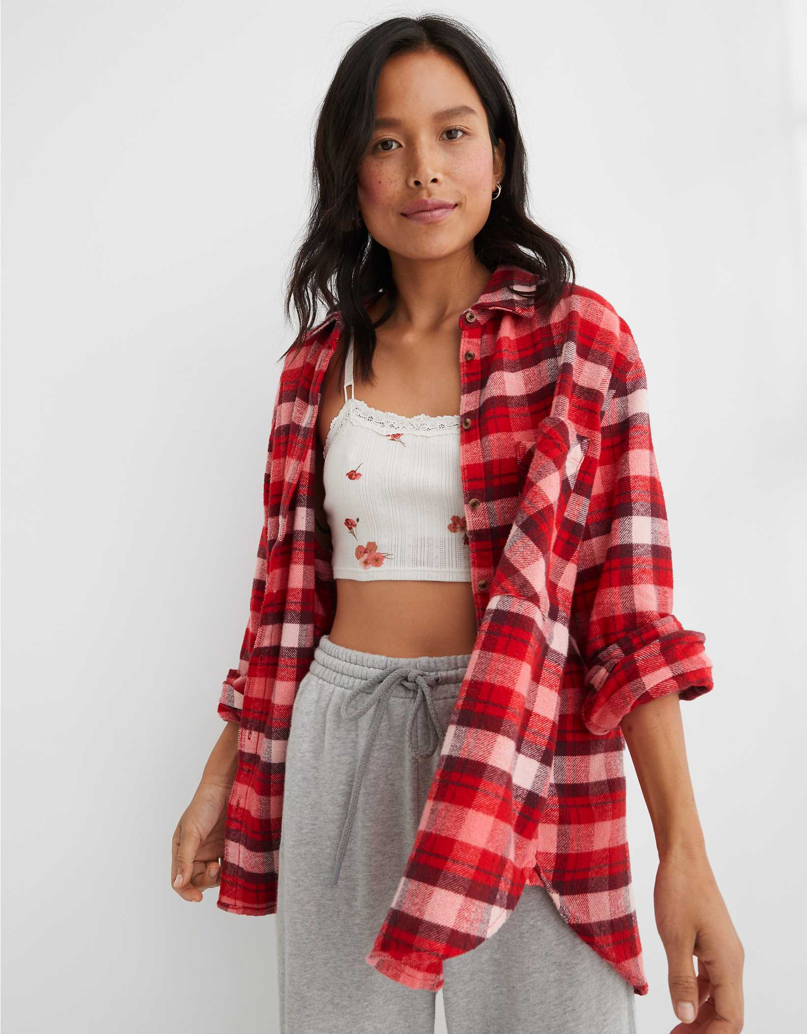 Aerie Anytime Fave Flannel Shirt