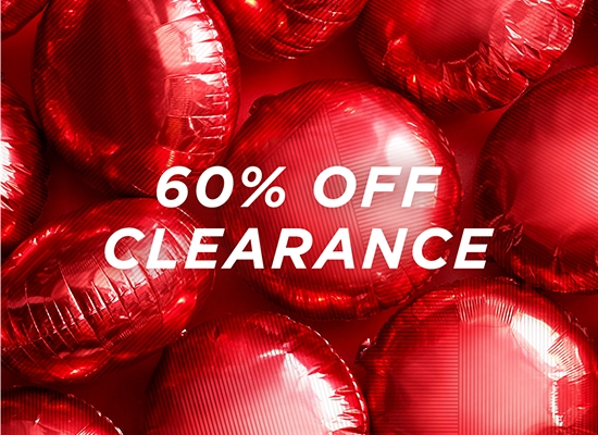 60 percent off clearance