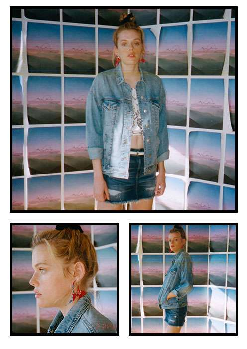 Denim Skirt and Jacket Image