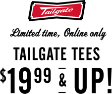 Tailgate limit4ed time online only tailgate tees 19 99 and up