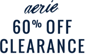 Aerie 60 percent off clearance