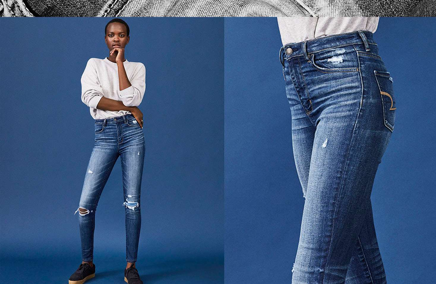 Jeggings American Eagle Outfitters Vintage Skin Rip Off Stretch Soft Jeans Highest Waist Jegging