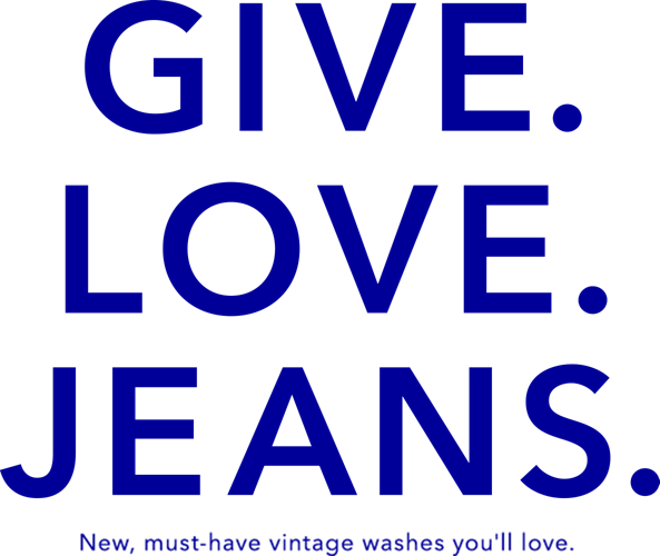 GIVE LOVE JEANS throw it back in new essential acid washes