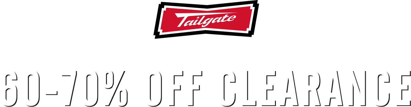 Tailgate Logo Limited time online only 60 to 70 off clearance