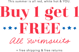 9f2348d381b1a This summe ris all red white hot and you buy one get on free all swimsuits  ...