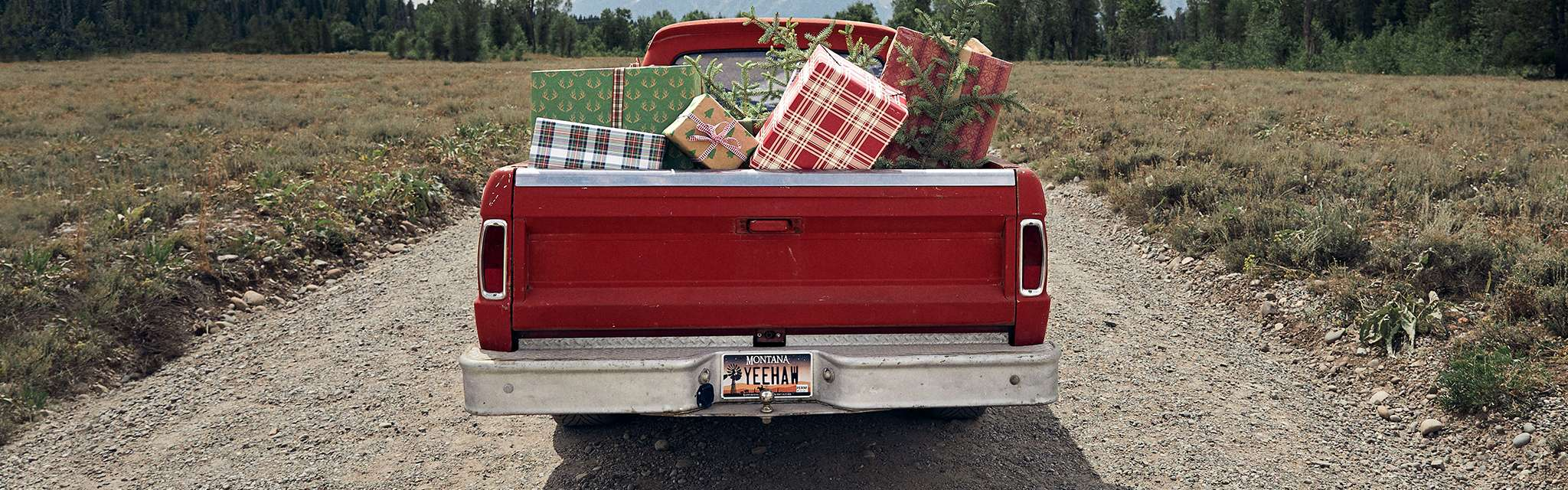 truck with gifts