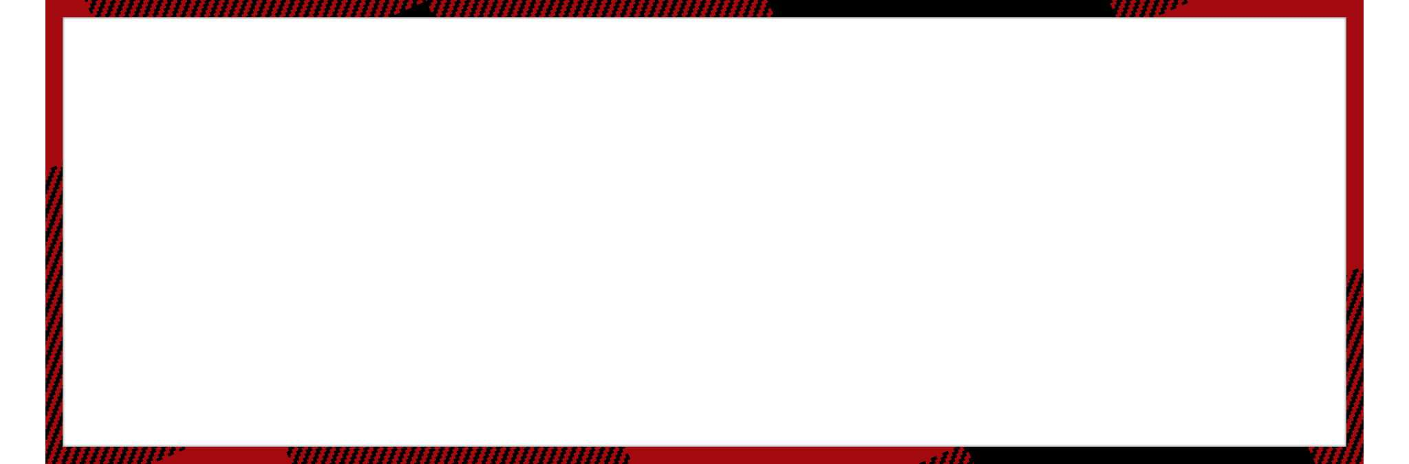 white with red border