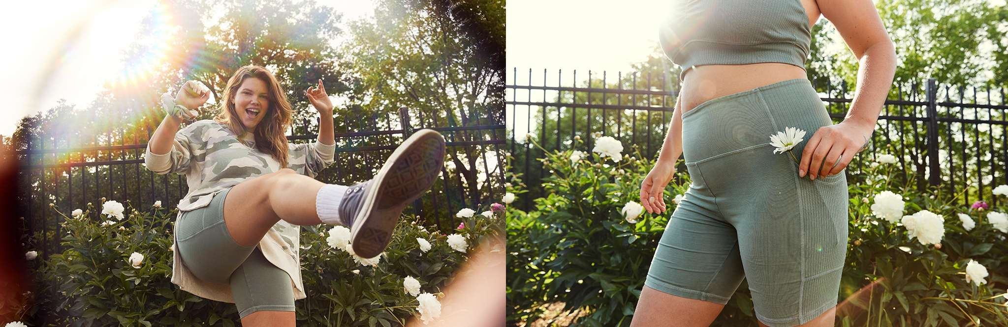 aerie bike shorts Image