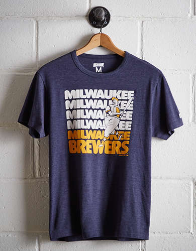 Tailgate Men's Milwaukee Brewers Retro T-Shirt - Free Returns