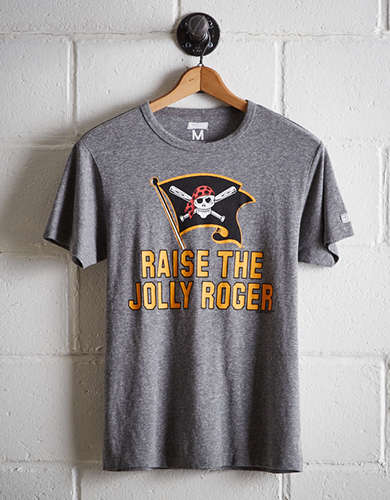 Tailgate Men's Pittsburgh Jolly Roger T-Shirt - Free Returns