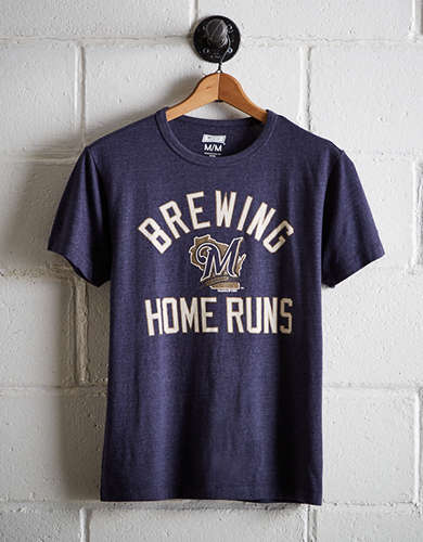 Tailgate Men's Milwaukee Brewers T-Shirt - Free Returns