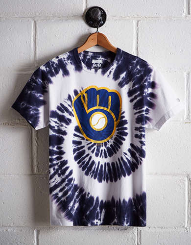 Tailgate Men's Milwaukee Brewers Tie-Dye T-Shirt - Free Shipping & Returns