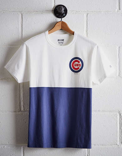 Tailgate Men's Chicago Cubs Color Block T-Shirt - Free Returns