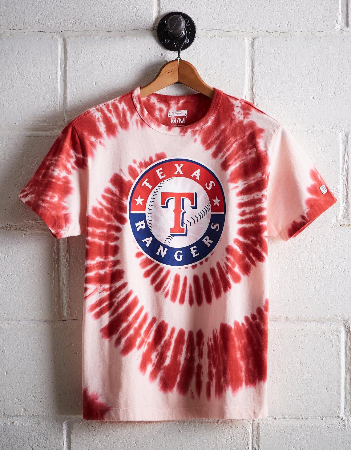 35ac515d0df Tailgate Men s Texas Rangers Tie-Dye T-Shirt