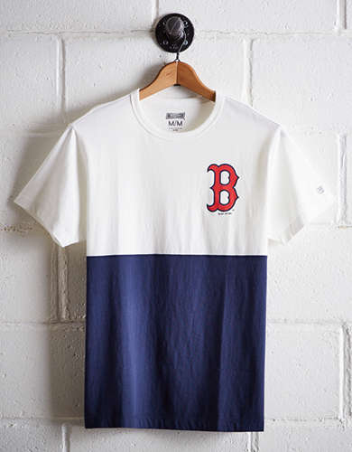 Tailgate Men's Boston Red Sox Color Block Tee - Free Returns