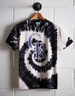 Tailgate Men's Colorado Rockies Tie-Dye T-Shirt