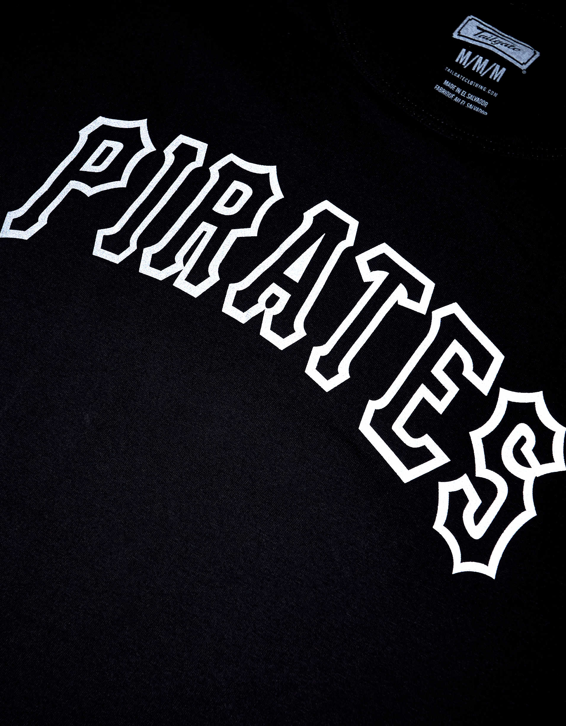 Tailgate Men's Pittsburgh Pirates Reflective Graphic T-Shirt