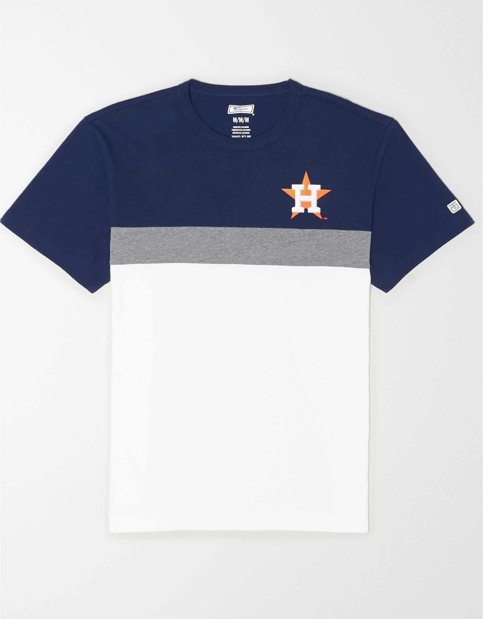 Tailgate Men's Houston Astros Colorblock T-Shirt