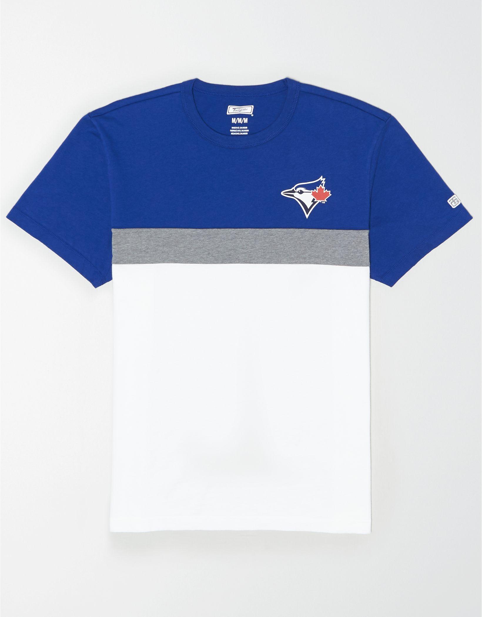 Tailgate Men's Toronto Blue Jays Colorblock T-Shirt