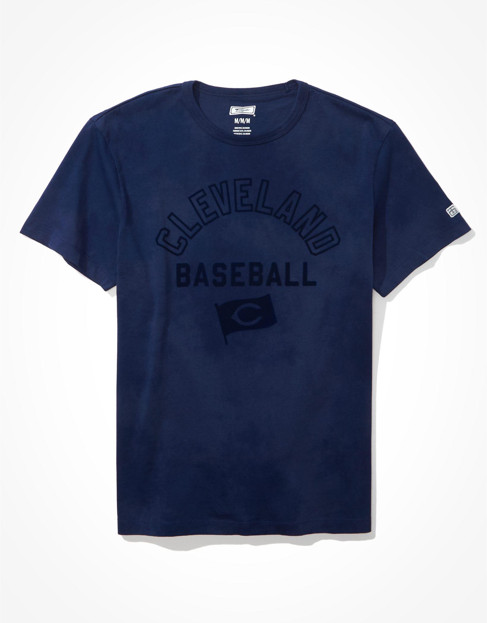 Tailgate Men's Cleveland Indians Tonal Tie-Dye T-Shirt