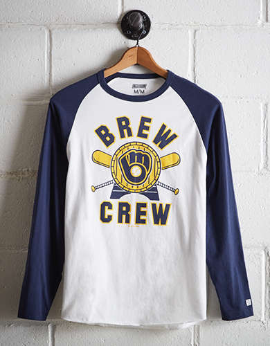 Tailgate Men's Milwaukee Brewers Baseball Shirt - Free Returns
