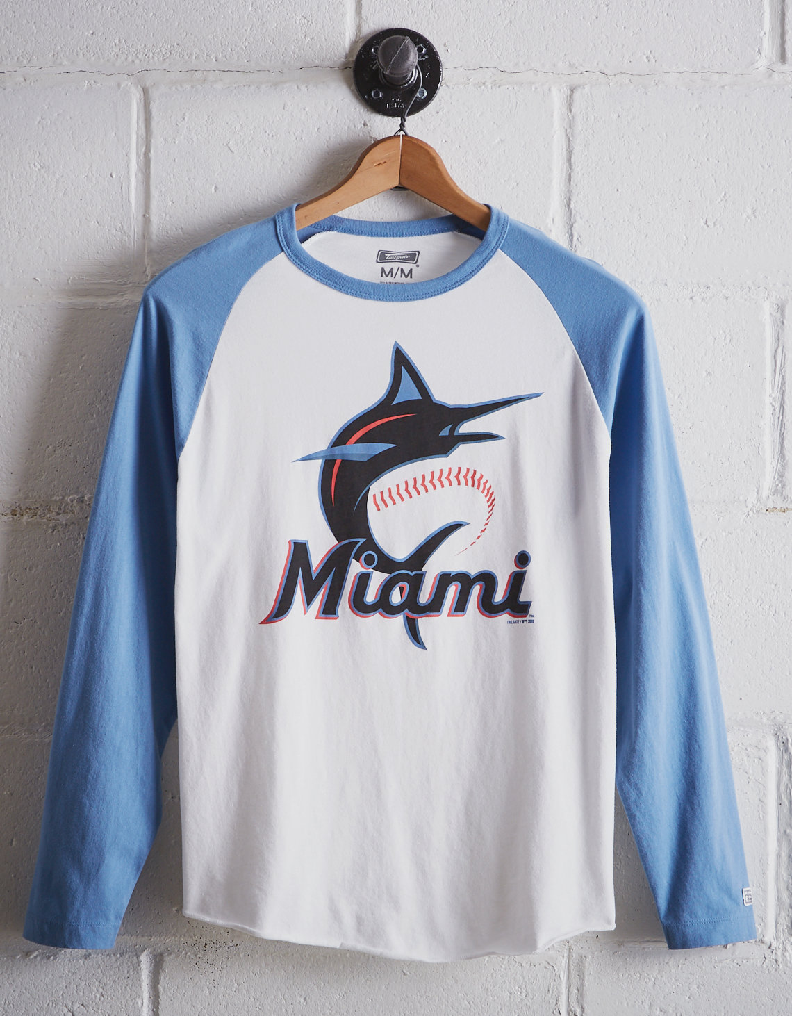 huge discount 057e2 2b1aa Tailgate Men s Miami Marlins Baseball Shirt. Placeholder image. Product  Image