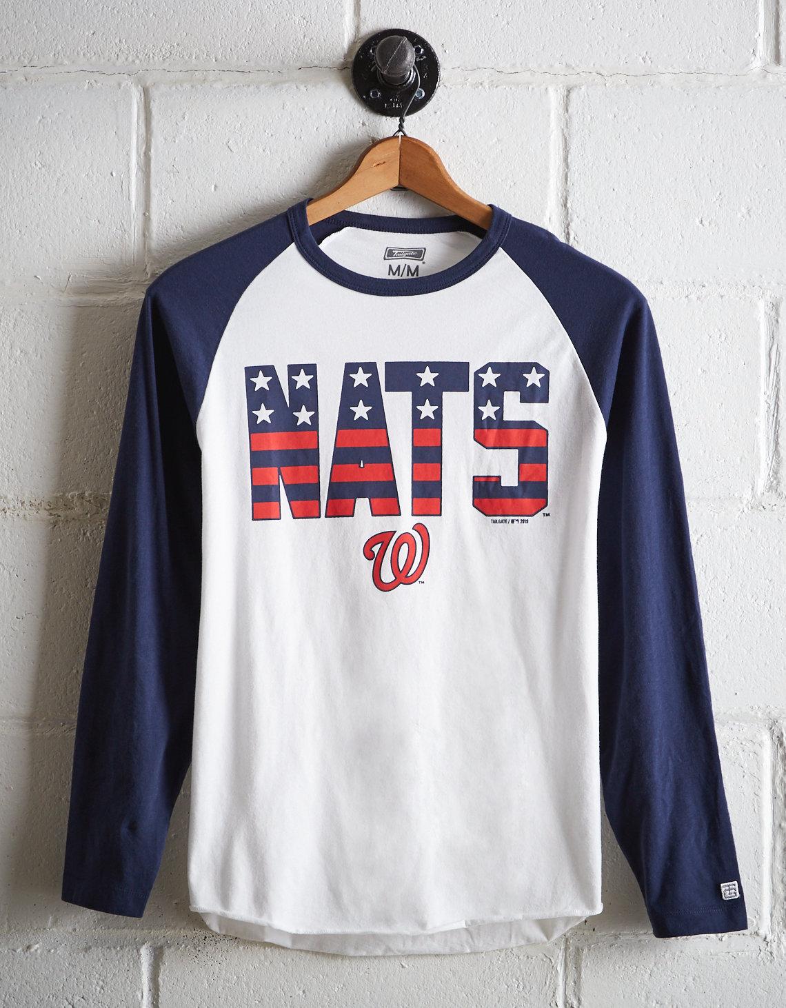 the latest 32075 e6f06 Tailgate Men's Washington Nationals Baseball Shirt