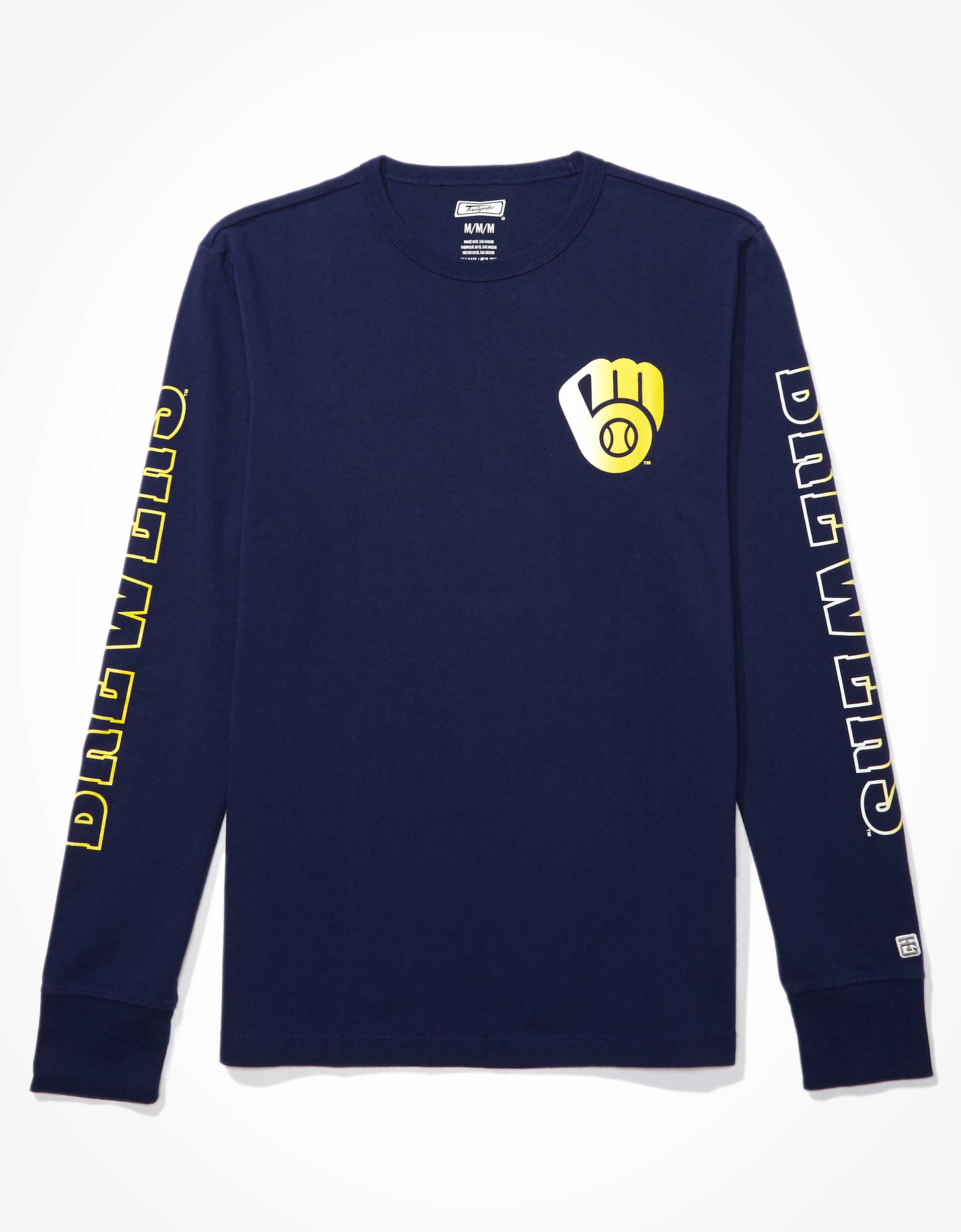 Tailgate Men's Milwaukee Brewers Long-Sleeve T-Shirt