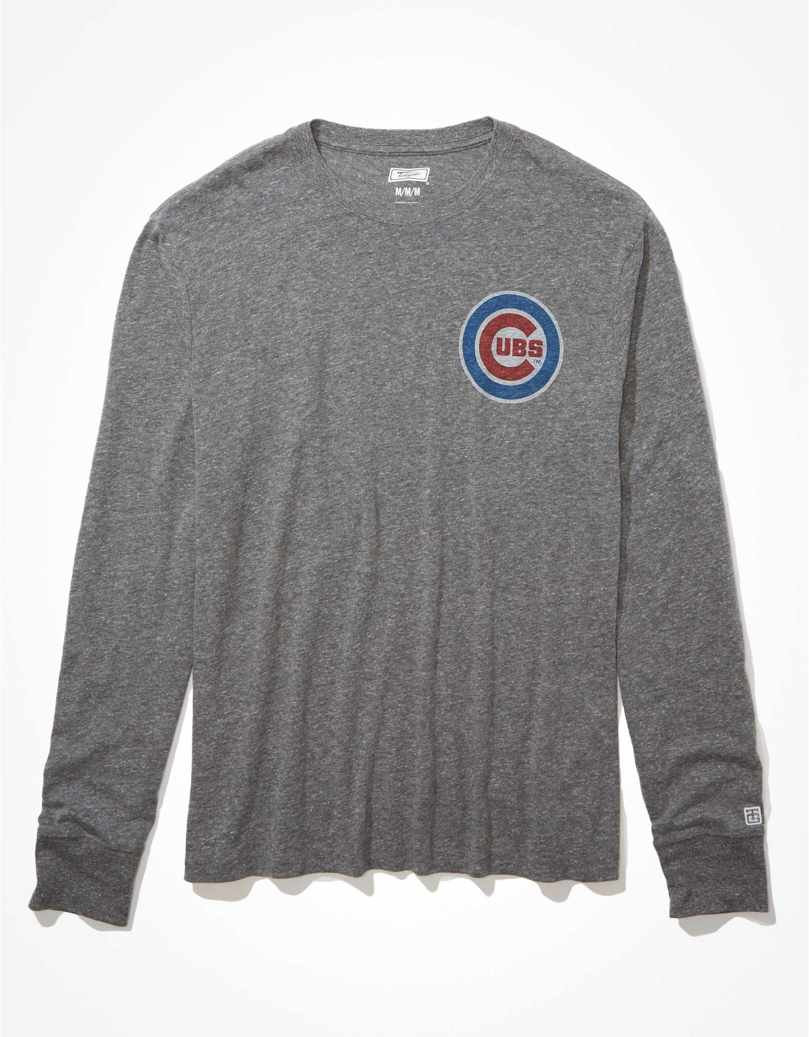 Tailgate Men's Chicago Cubs Long-Sleeve Graphic T-Shirt