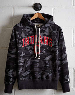 Tailgate Men's Cleveland Indians Camo Hoodie