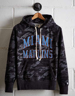 Tailgate Men's Miami Marlins Camo Hoodie