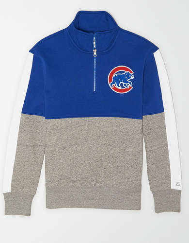 Tailgate Men's Chicago Cubs Quarter-Zip Sweatshirt
