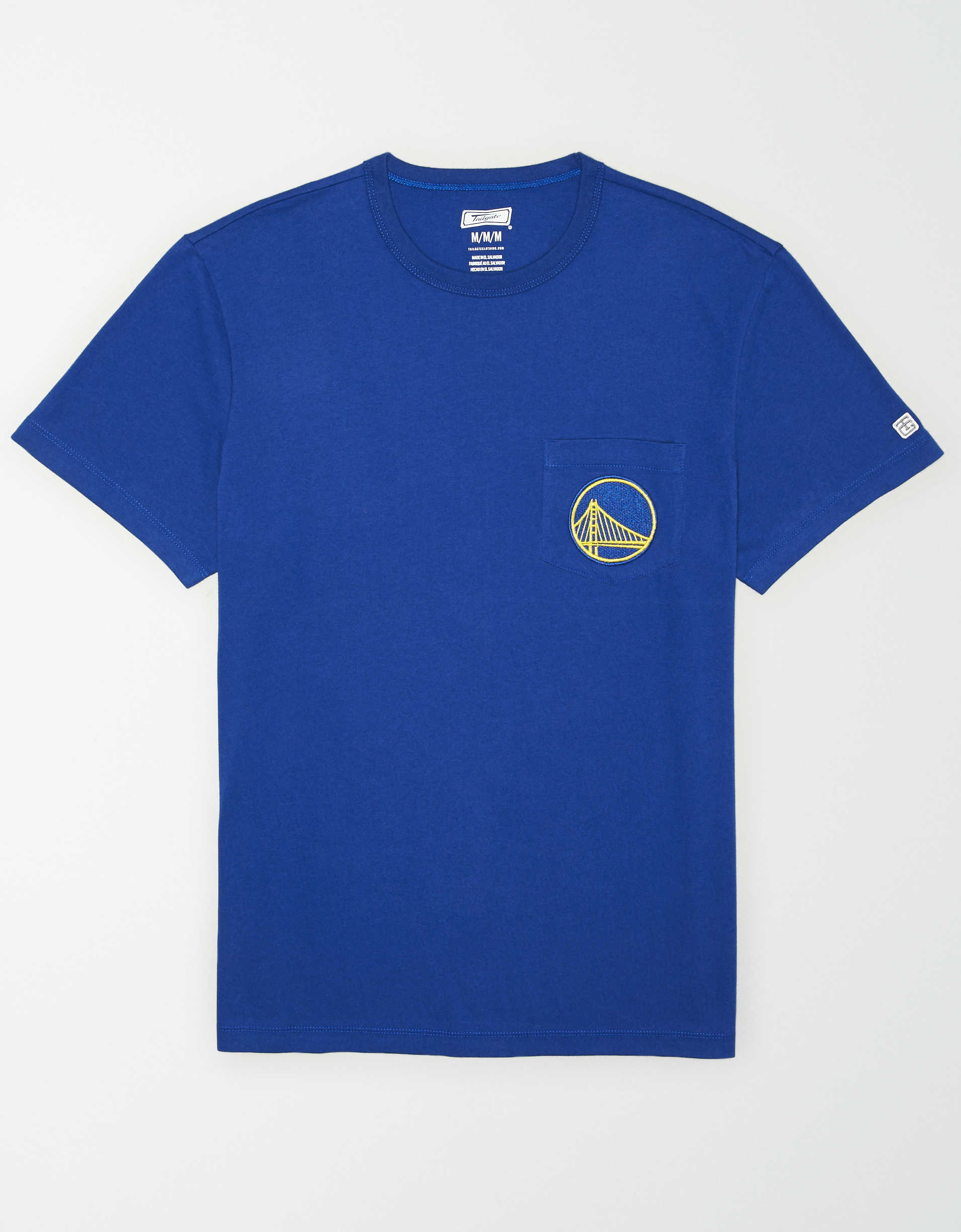 Tailgate Men's Golden State Warriors Embroidered Pocket T-Shirt