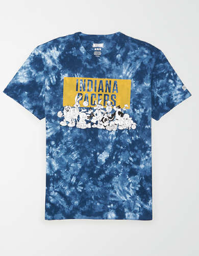 Tailgate Men's Indiana Pacers x Looney Tunes Tie-Dye T-Shirt