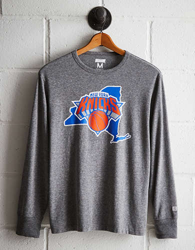 Tailgate Men's NY Knicks Long Sleeve Tee - Free Returns