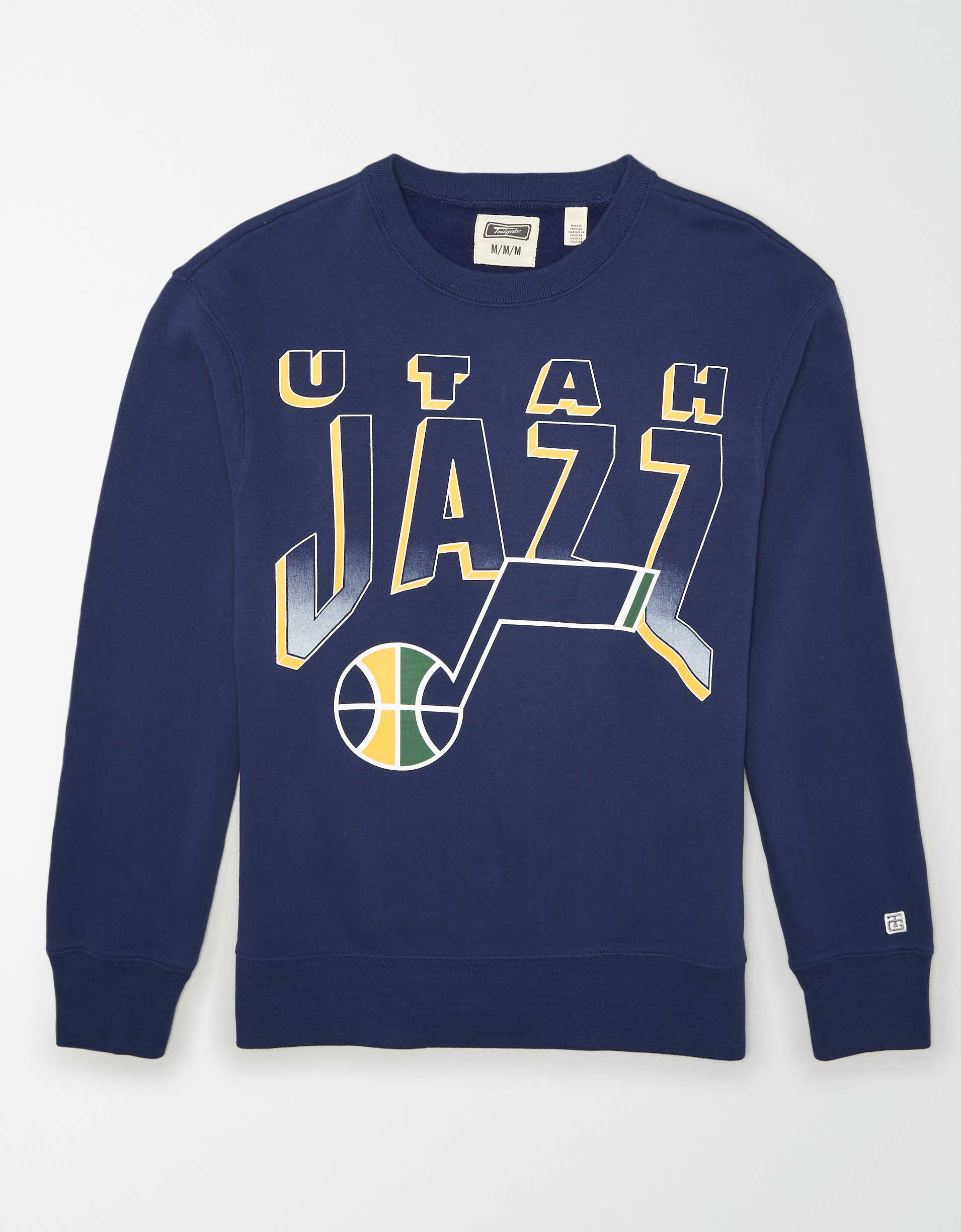 Tailgate Men's Utah Jazz Crew Neck Sweatshirt
