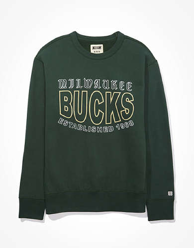 Tailgate Men's Milwaukee Bucks Crew Neck Fleece Sweatshirt