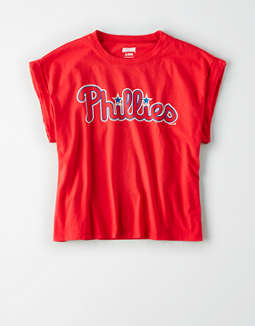Tailgate Women's Philadelphia Phillies Rolled Sleeve T-Shirt