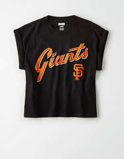 Tailgate Women's SF Giants Rolled Sleeve T-Shirt
