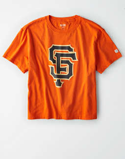 Tailgate Women's SF Giants Cropped Graphic T-Shirt
