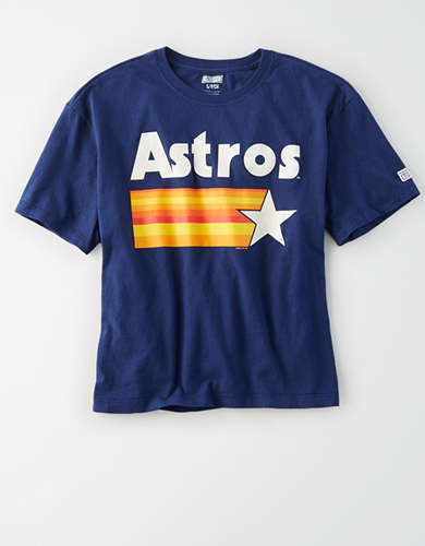 Tailgate Women's Houston Astros Cropped Graphic T-Shirt