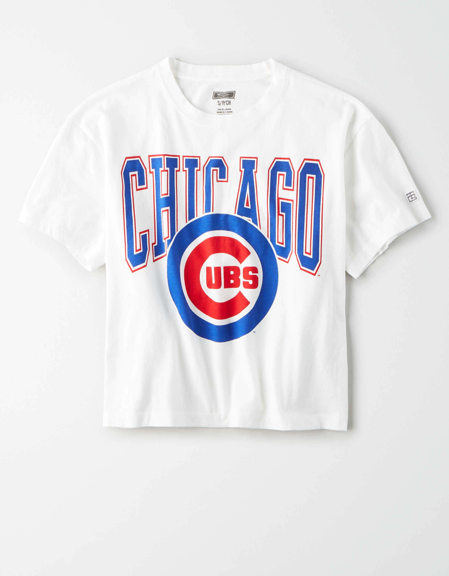 Tailgate Women's Chicago Cubs Cropped T-Shirt