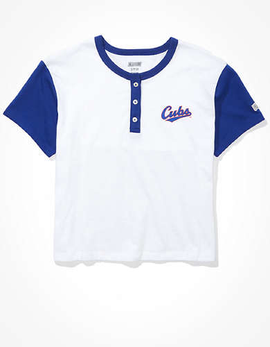 Tailgate Women's Chicago Cubs Cropped Henley