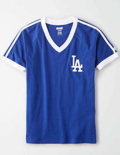 Tailgate Women's LA Dodgers V-Neck T-Shirt
