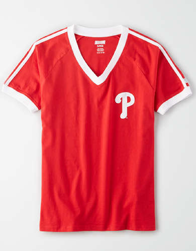 Tailgate Women's Philadelphia Phillies V-Neck T-Shirt