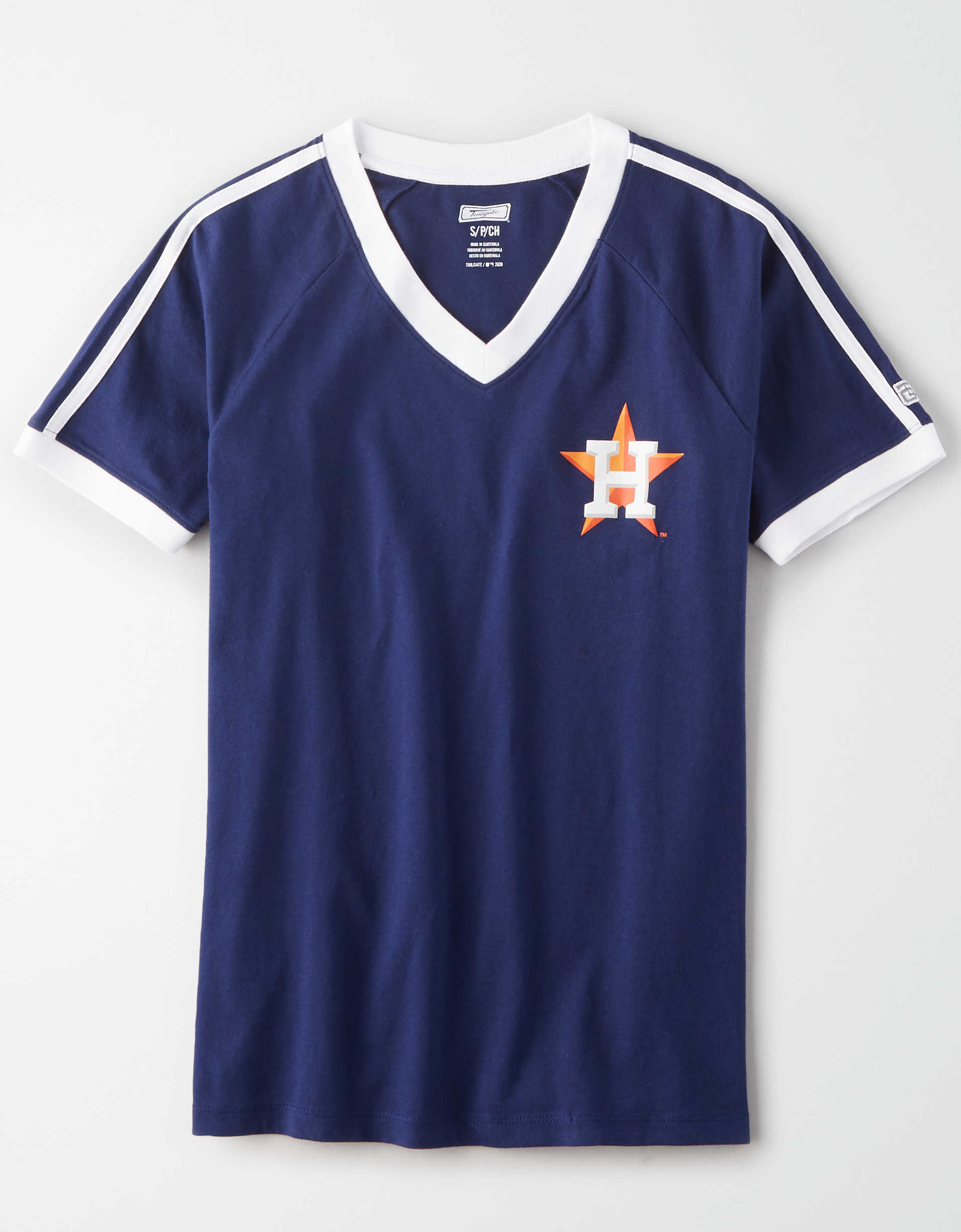Tailgate Women's Houston Astros V-Neck T-Shirt