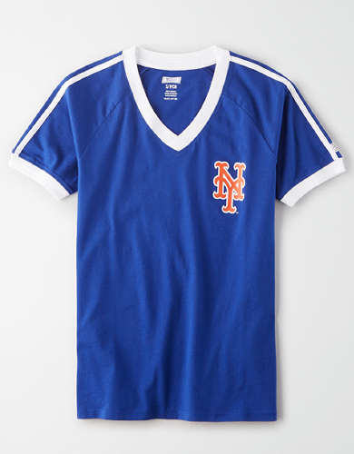 Tailgate Women's New York Mets V-Neck T-Shirt