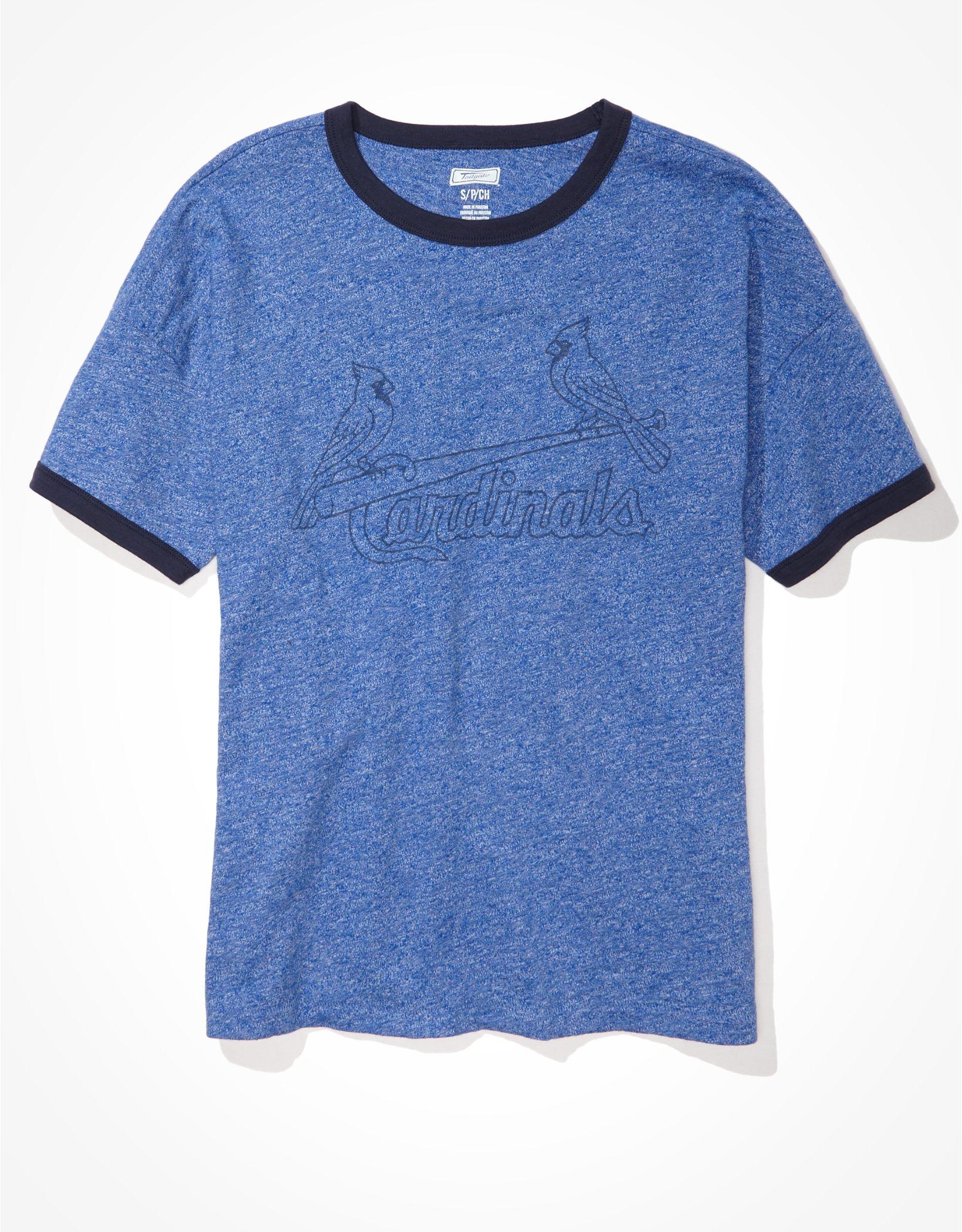Tailgate Women's St. Louis Cardinals Ringer T-Shirt